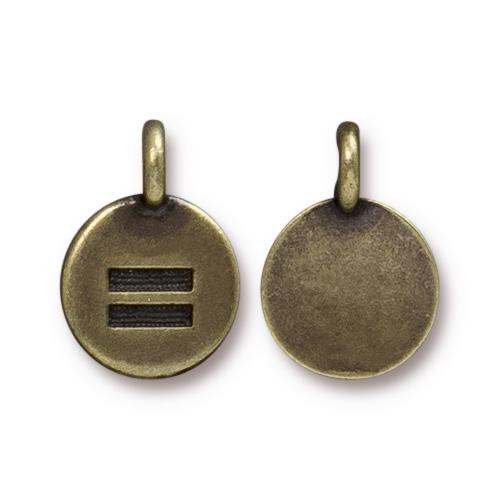 Equality Charm, Oxidized Brass Plate, 20 per Pack