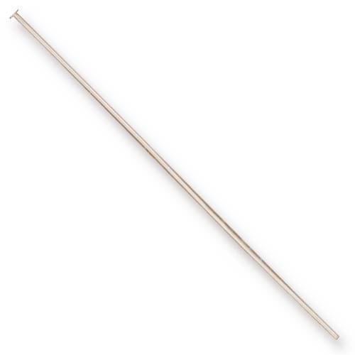 Head Pin 24 gauge 2 inch length, Sterling Silver, 50 per Pack