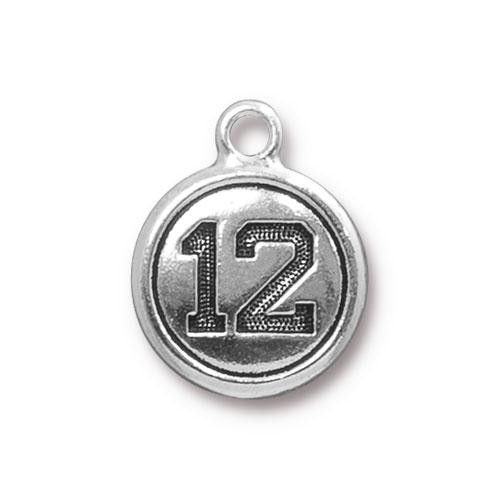 Clearance: Twelve Charm, Antiqued Silver Plate, 20 per Pack