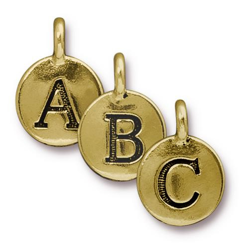 ABC Charm Mix, Antiqued Gold Plate, 260 per Pack