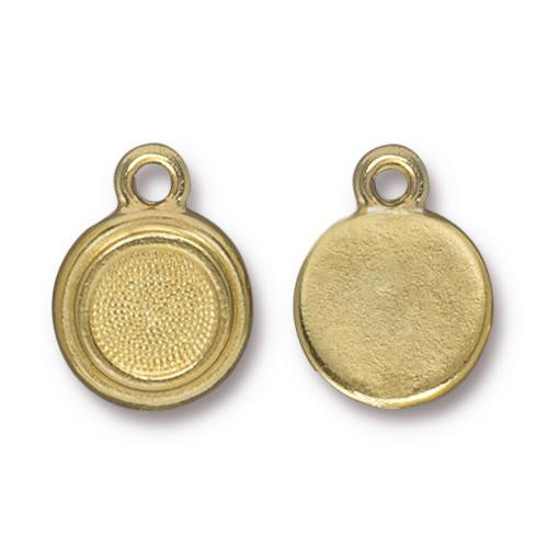 SS34 Stepped Bezel Drop, Gold Plate, 20 per Pack