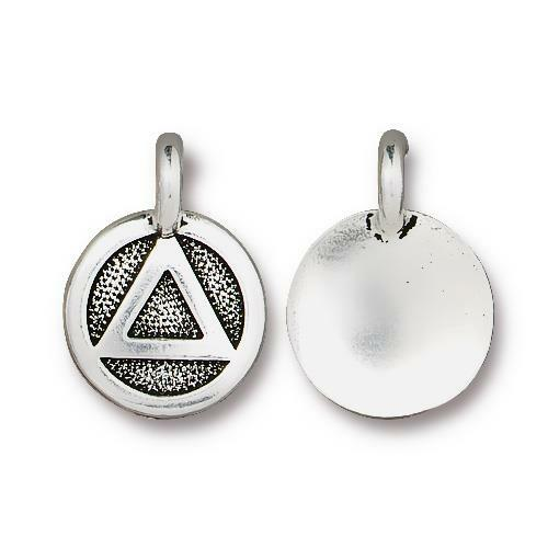 Recovery Charm, Antiqued Silver Plate, 20 per Pack