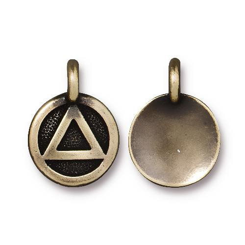 Recovery Charm, Oxidized Brass Plate, 20 per Pack