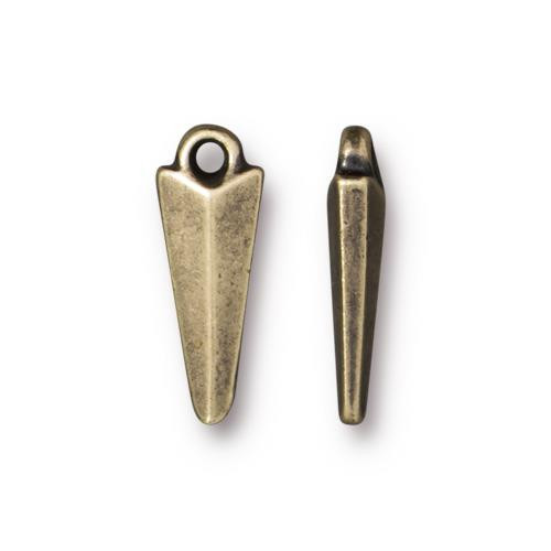 Dagger Charm Medium, Oxidized Brass Plate, 20 per Pack