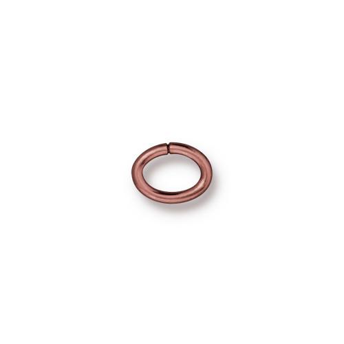 Oval Jump Ring 17 Gauge 5x3.5mm Inside Diameter, Copper, 100 per Pack