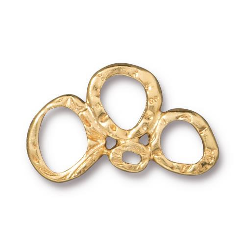 Intermix 3 Ring Link, Gold Plate, 20 per Pack