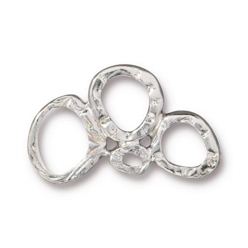 Intermix 3 Ring Link, Rhodium Plated, 20 per Pack