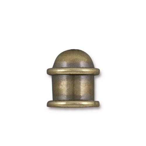 Capitol 8mm Cord End, Oxidized Brass, 10 per Pack