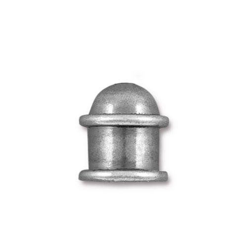 Capitol 8mm Cord End, Oxidized Tin Plate, 10 per Pack