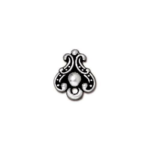 Duchess Earring Post, Antiqued Silver Plate, 10 per Pack