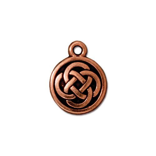 Celtic Round Charm, Antiqued Copper Plate, 20 per Pack