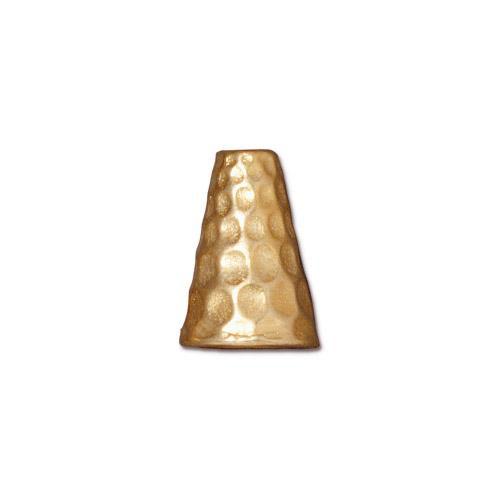 Tall Hammertone Cone, Gold Plate, 20 per Pack