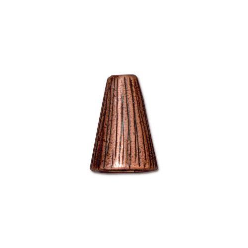Tall Radiant Cone, Antiqued Copper Plate, 20 per Pack