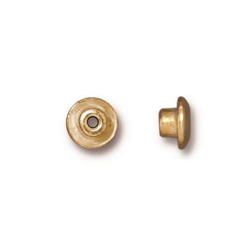 Classic 7mm BeadAligner, 4mm Peg, Gold Plate, 50 per Pack