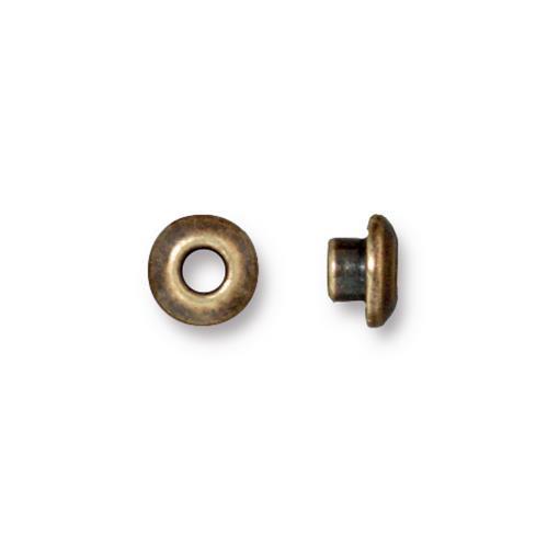 Classic 7mm BeadAligner, 4mm Peg, Oxidized Brass Plate, 50 per Pack
