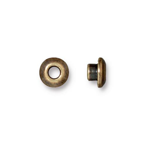 Classic 7mm BeadAligner, 4mm Peg, Oxidized Brass Plate, 50 per Pack