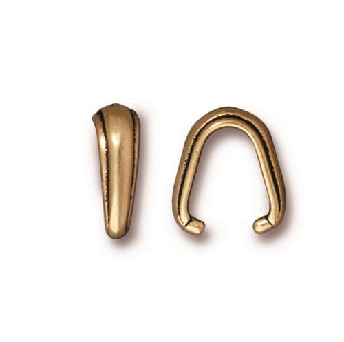 Nouveau Pinch Bail, Antiqued Gold Plate, 20 per Pack