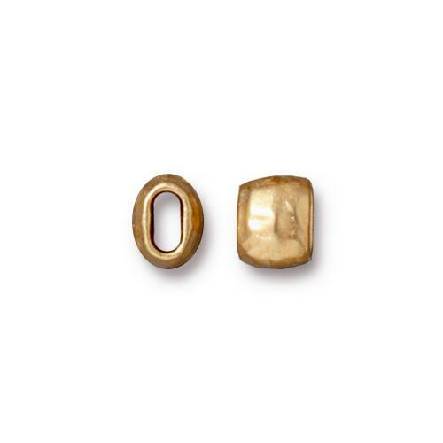 Distressed 4x2mm Barrel Bead, Gold Plate, 20 per Pack