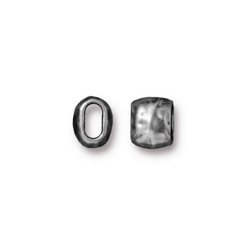 Distressed 4x2mm Barrel Bead, Antiqued Pewter, 20 per Pack