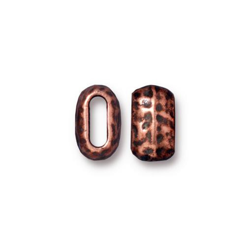 Distressed 6x2mm Barrel Bead, Antiqued Copper Plate, 20 per Pack
