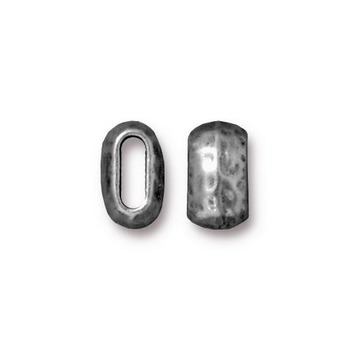 Distressed 6x2mm Barrel Bead, Antiqued Pewter, 20 per Pack