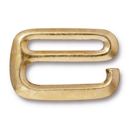 Clearance: E Hook 3/4 inch, Gold Plate, 10 per Pack