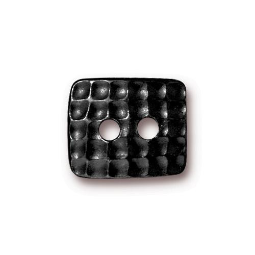 Hammertone Rectangle Button, Black Plate, 20 per Pack