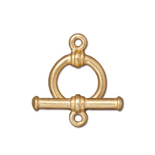 Bar & Ring Clasp Set, Gold Plate, 10 per Pack