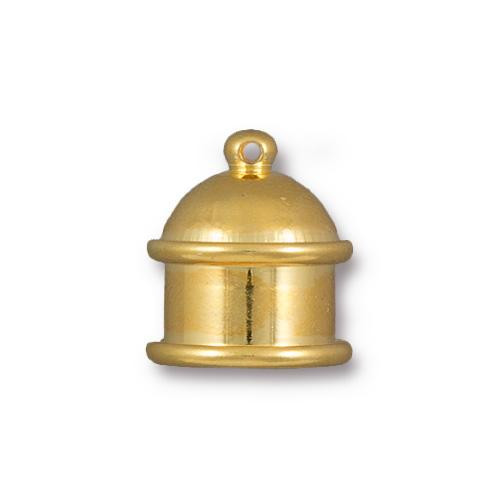 Pagoda 10mm Cord End, Gold Plate, 10 per Pack