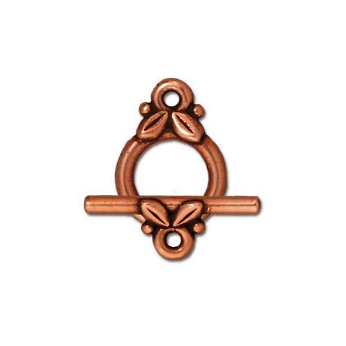 Leaf Clasp Set, Antiqued Copper Plate, 10 per Pack