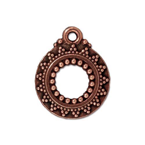 Bali Clasp Ring, Antiqued Copper Plate, 20 per Pack