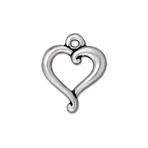 Jubilee Charm, Antiqued Silver Plate, 20 per Pack