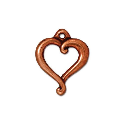 Jubilee Charm, Antiqued Copper Plate, 20 per Pack