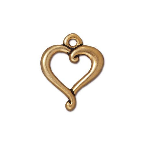 Jubilee Charm, Antiqued Gold Plate, 20 per Pack