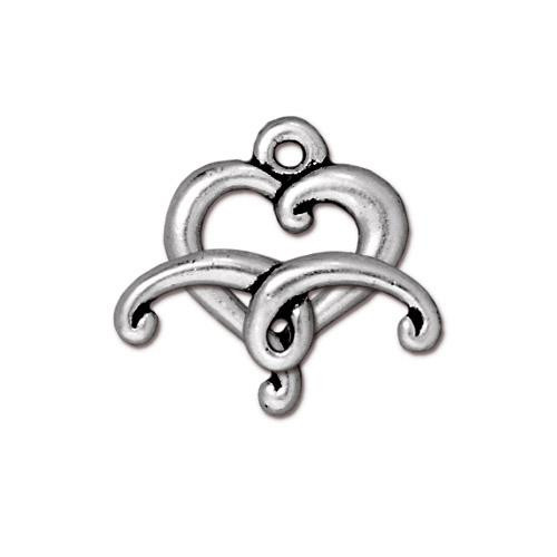 Jubilee Clasp Set, Antiqued Silver Plate, 10 per Pack