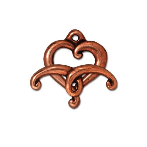 Jubilee Clasp Set, Antiqued Copper Plate, 10 per Pack