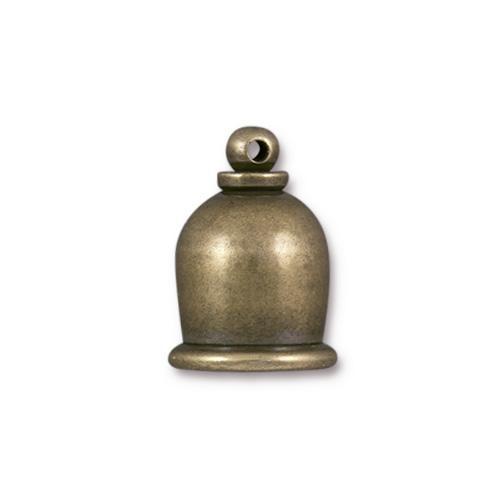 Taj 8mm Cord End, Oxidized Brass, 10 per Pack