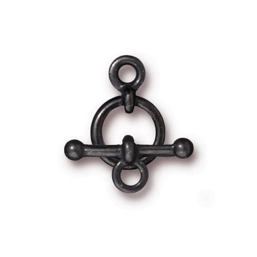 Anna's 3/8 inch Clasp Set, Black Plate, 10 per Pack