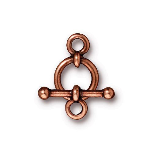 Anna's 3/8 inch Clasp Set, Antiqued Copper Plate, 10 per Pack