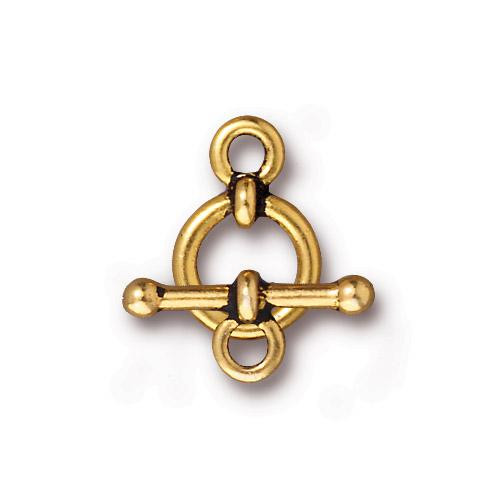 Anna's 3/8 inch Clasp Set, Antiqued Gold Plate, 10 per Pack