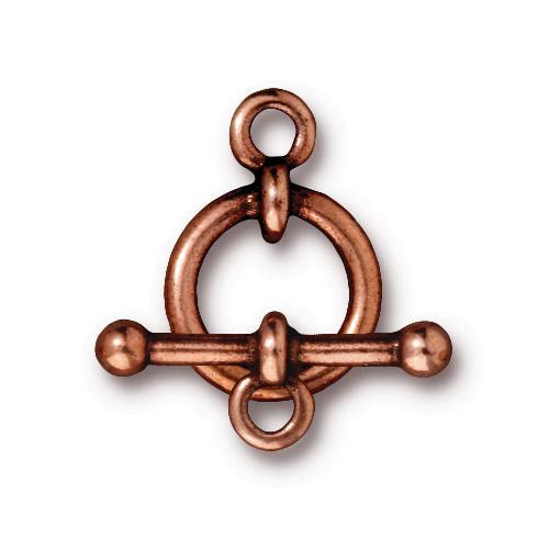 Anna's 1/2 inch Clasp Set, Antiqued Copper Plate, 10 per Pack