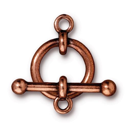 Anna's 5/8 inch Clasp Set, Antiqued Copper Plate, 10 per Pack