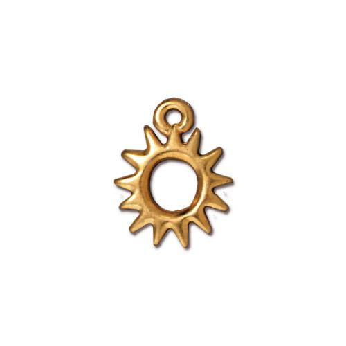 Radiant Sun Charm, Gold Plate, 20 per Pack