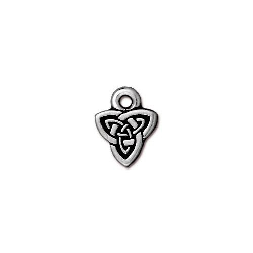 Celtic Triad Charm, Antiqued Silver Plate, 20 per Pack
