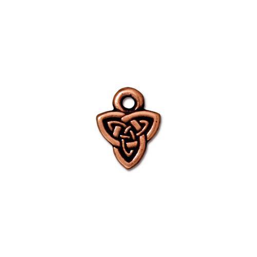 Celtic Triad Charm, Antiqued Copper Plate, 20 per Pack
