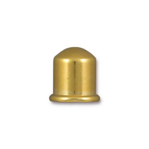 Cupola 8mm Cord End, Gold Plate, 10 per Pack