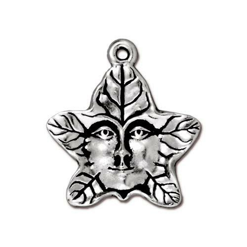 Tree Spirit Charm, Antiqued Silver Plate, 20 per Pack