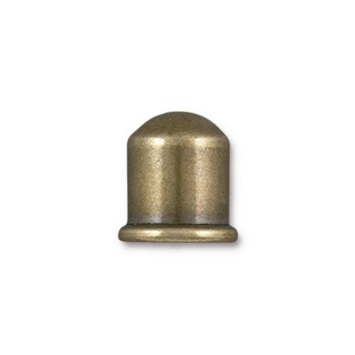 Cupola 8mm Cord End, Oxidized Brass, 10 per Pack