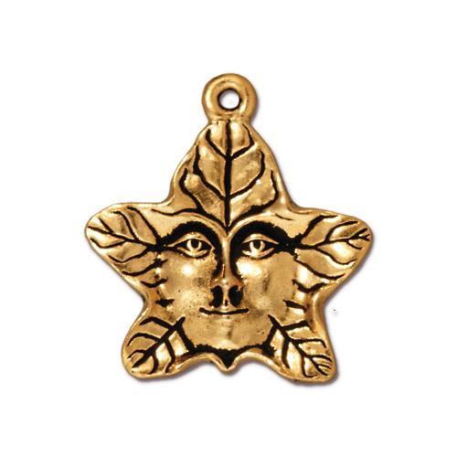 Tree Spirit Charm, Antiqued Gold Plate, 20 per Pack