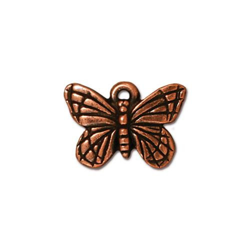 Monarch Butterfly Charm, Antiqued Copper Plate, 20 per Pack